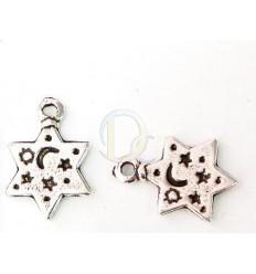 Estrella plateada (luna y estrellas)