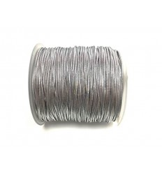 Cordón elástico plateado