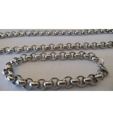 Cadena de aluminio. Tamaño: 25x20mm