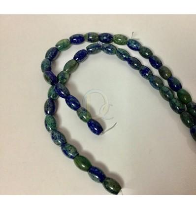 872f2cedb Azulita con malaquita para collares y pulseras. Cuentas en forma de ...