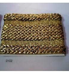 Cinta elástica dorada y oro viejo