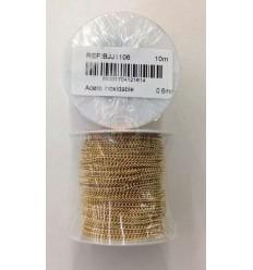 Cadena acero dorada 0.6 mm