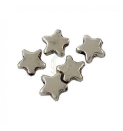 Estrellas en Zamak, flash de oro 10mm