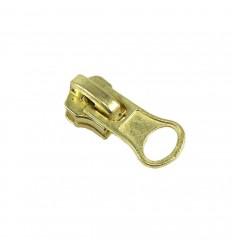 Hueso de la suerte de Zamak, flash de oro. 15x24 mm