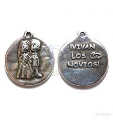 """Colgante Medalla """"Vivan Los Novios"""""""