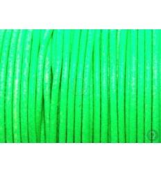 Cordón de cuero verde pistacho