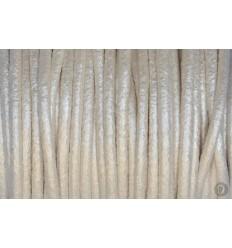 Cordón de Cuero Plata Anacarada