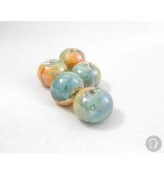 Enamel Greek porcelain beads