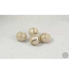 Enameled porcelain balls