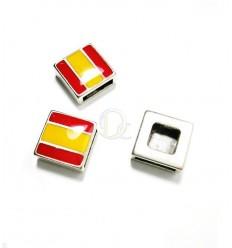 Entrepieza Bandera España. Ø 10mm