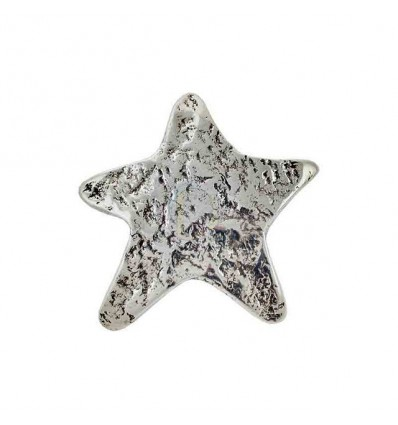Colgante de estrella en Zamak con baño de plata