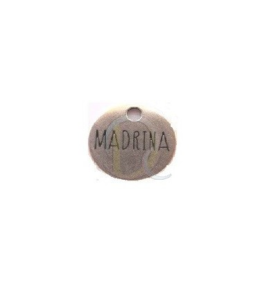 "COLGANTE CHAPA REDONDA ""MADRINA"""
