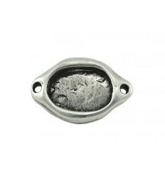 Entrepieza ovalada 23x15mm. Piedra de 14x10mm. Rf.11239