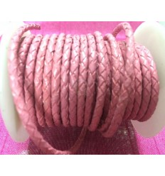 Pink braided leather