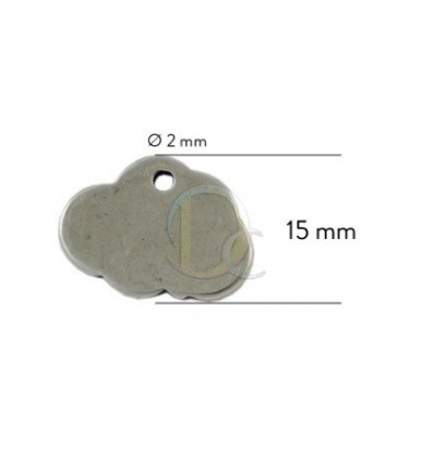Chapa personalizable Baño plata