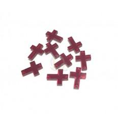 Cruz rojo cristal